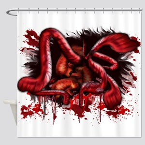 Spill your Guts.png Shower Curtain