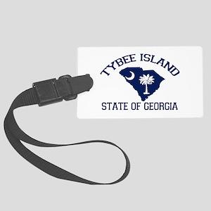 Tybee Island GA - Map Design. Large Luggage Tag