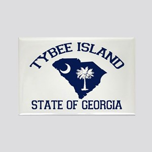 Tybee Island GA - Map Design. Rectangle Magnet