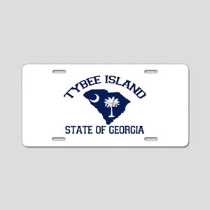 Tybee Island GA - Map Design. Aluminum License Pla