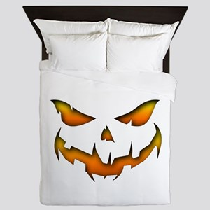 Pumpkin Smile Queen Duvet