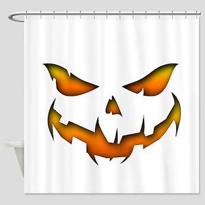 Pumpkin Smile.png Shower Curtain