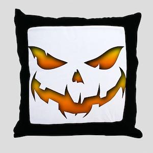 Pumpkin Smile Throw Pillow