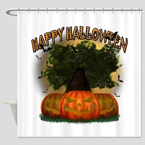 Happy Halloween Tree.png Shower Curtain