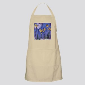 Monet Yellow Irises Apron