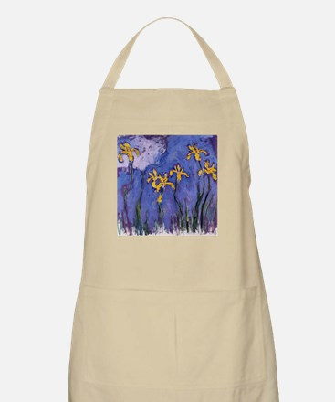 Monet Yellow Irises Apron