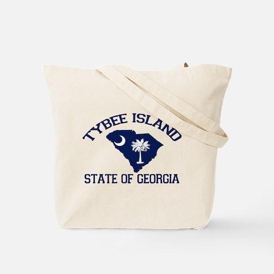 Tybee Island GA - Map Design. Tote Bag