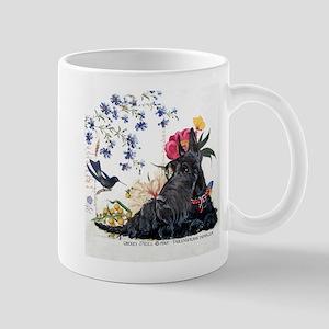 Scottish Terrier and Hummingbird Mug