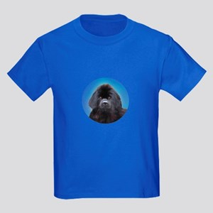Newfoundland Dog Head Shoulders Kids Dark T-Shirt