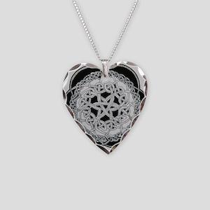 celtic knot Necklace Heart Charm