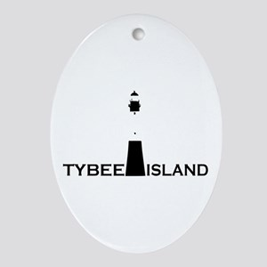 Tybee Island Lighthouse Design. Ornament (Oval)