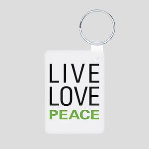 Live Love Peace Aluminum Photo Keychain