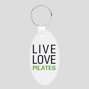 Live Love Pilates Aluminum Oval Keychain