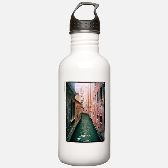 Canal in Venice Italy Water Bottle
