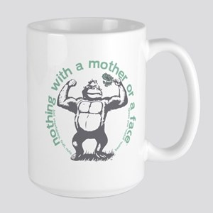 Nothing with a mother or a face Large Mug