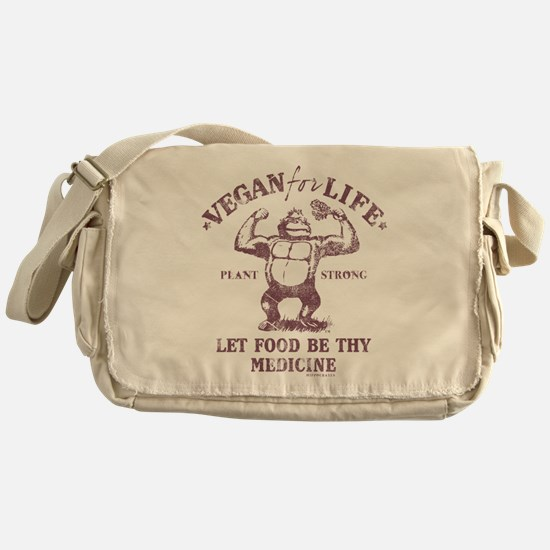 Vegan for Life Messenger Bag