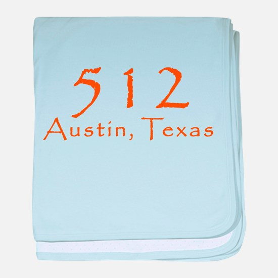 512 Austin Texas Area Code T-Shirt baby blanket