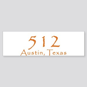 512 Austin Texas Area Code T-Shirt Sticker (Bumper