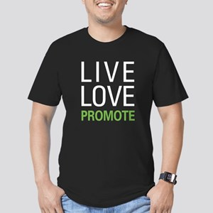Live Love Promote Men's Fitted T-Shirt (dark)