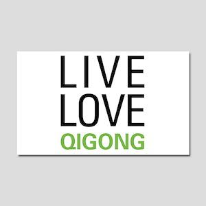 Live Love Qigong Car Magnet 20 x 12