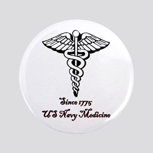 "US Navy Medicine 3.5"" Button"