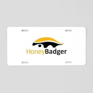Honey Badger Logo Aluminum License Plate