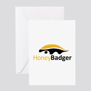 Cool logos greeting cards cafepress honey badger logo greeting card m4hsunfo