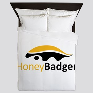 Honey Badger Logo Queen Duvet
