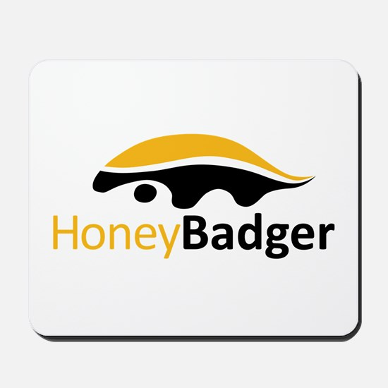 Honey Badger Logo Mousepad