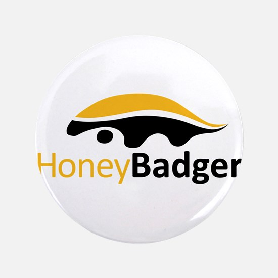 "Honey Badger Logo 3.5"" Button (100 pack)"
