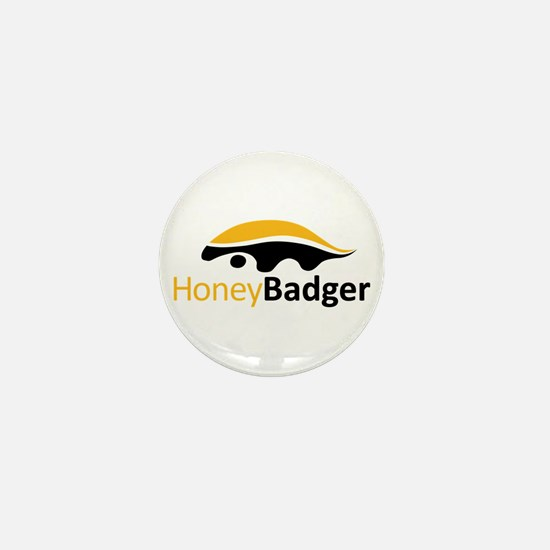 Honey Badger Logo Mini Button (100 pack)