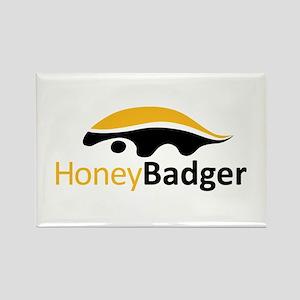 Honey Badger Logo Rectangle Magnet