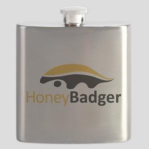 Honey Badger Logo Flask