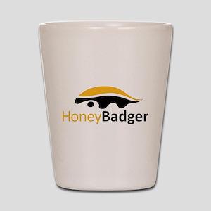 Honey Badger Logo Shot Glass
