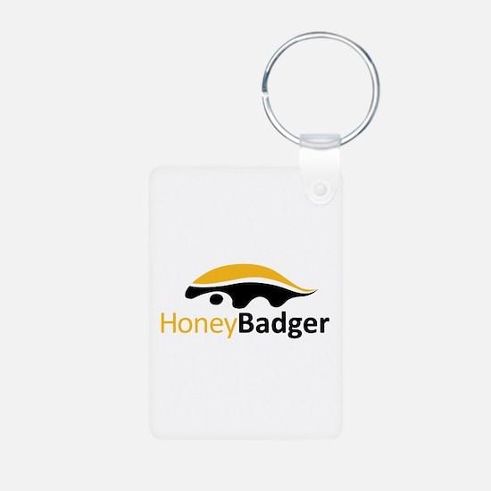 Honey Badger Logo Keychains