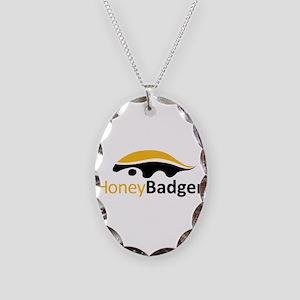 Honey Badger Logo Necklace Oval Charm