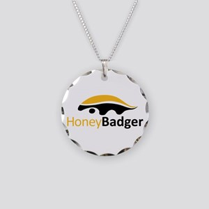 Honey Badger Logo Necklace Circle Charm