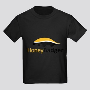 Honey Badger Logo Kids Dark T-Shirt