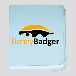 Honey Badger Logo baby blanket