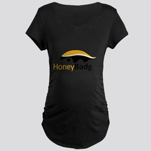 Honey Badger Logo Maternity Dark T-Shirt