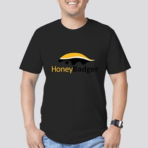 Honey Badger Logo Men's Fitted T-Shirt (dark)