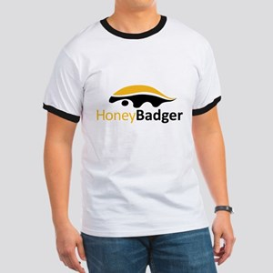 Honey Badger Logo Ringer T