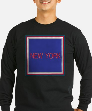 New York Blue and Red T