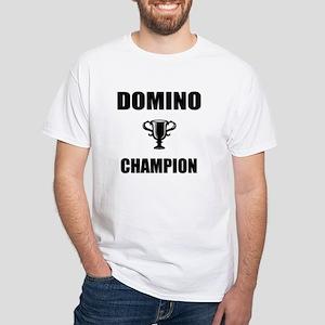 domino champ White T-Shirt