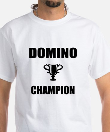 domino champ White T-Shirt