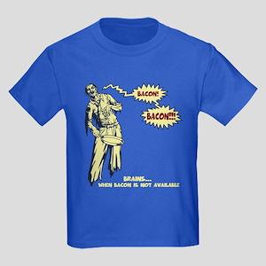 Zombie Bacon Kids Dark T-Shirt