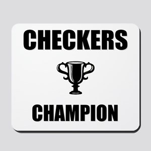checkers champ Mousepad