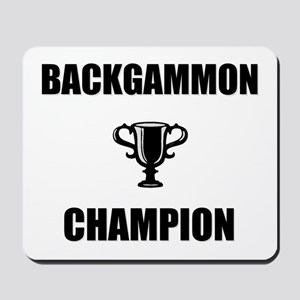 backgammon champ Mousepad