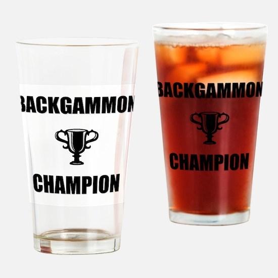 backgammon champ Drinking Glass