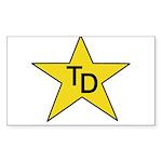 TD Star Sticker (Rectangle 50 pk)